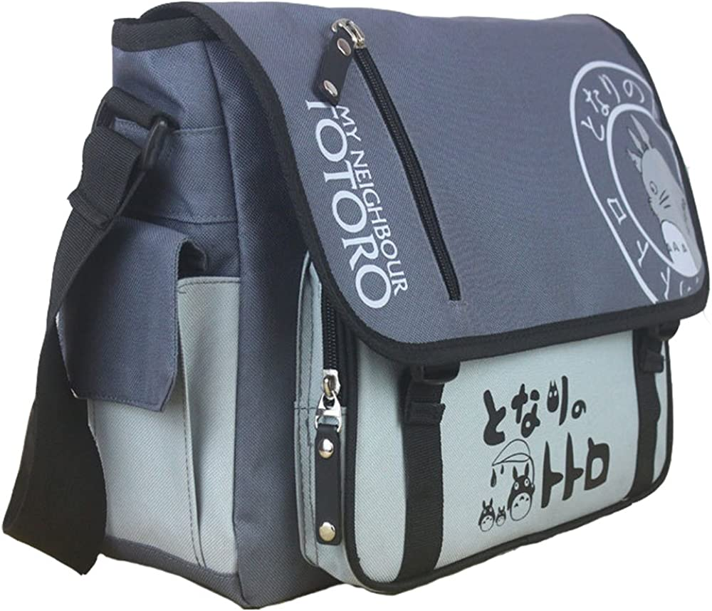 KINOMOTO Anime Tonari no Totoro Cosplay Satchel Messenger Bag School Shoulder Bag Crossbody Bag (Tonari no Totoro)