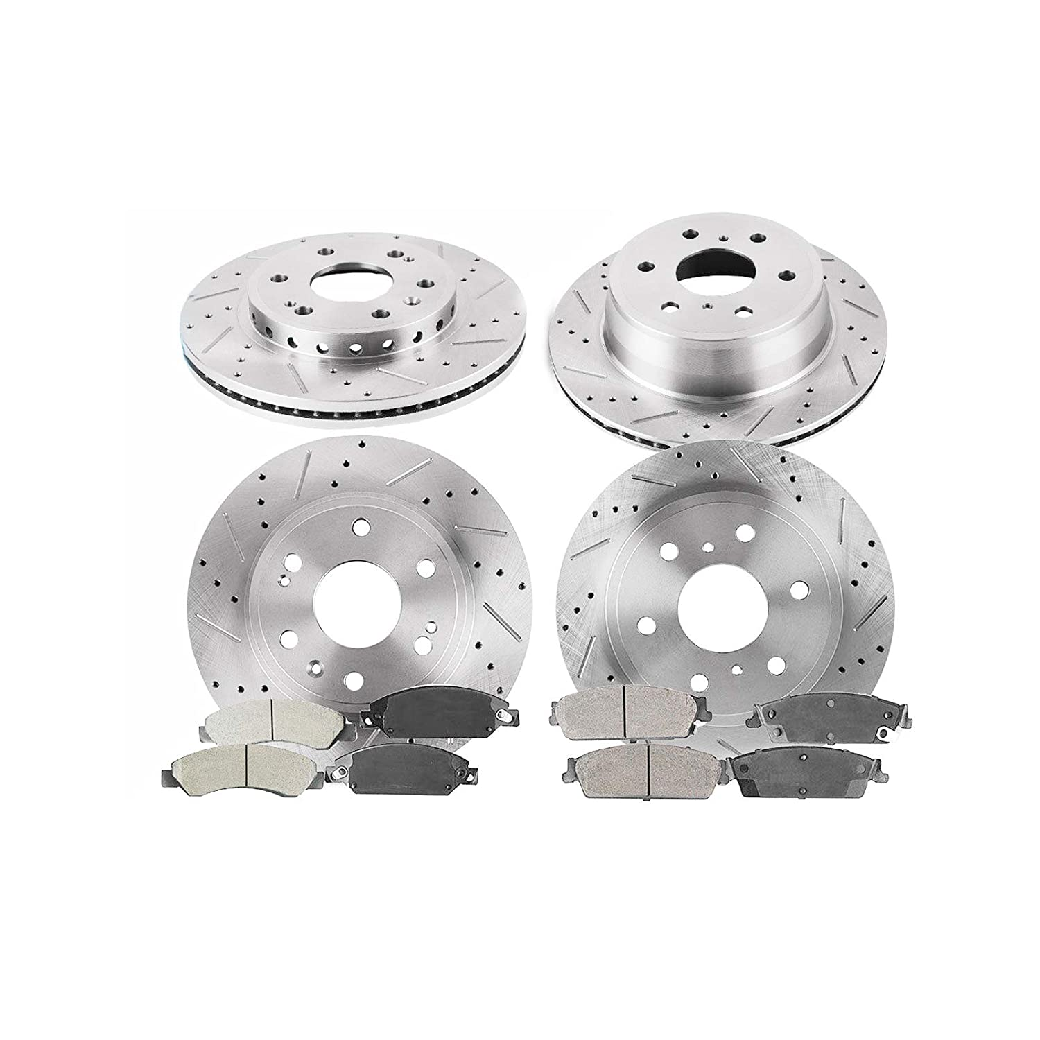 Front+Rear Rotors /& Ceramic Pads for 2007 Chevrolet Tahoe