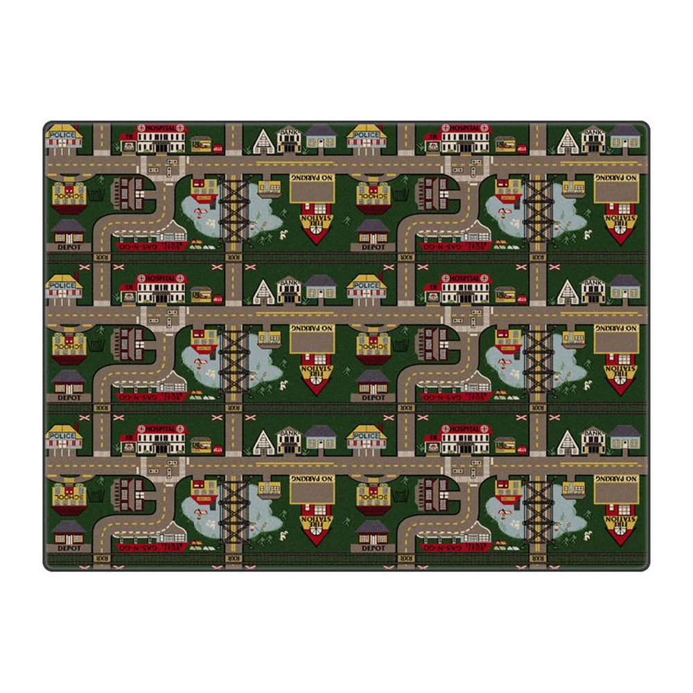 Flagship Carpet Children Learning Floor Playmat Nylon Places To Go (Tranquility) - 12' x 18' Toys Christmas Gift
