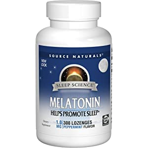 Source Naturals Sleep Science Melatonin 1mg Peppermint Flavor Promotes Restful Sleep and Relaxation - Supports Natural