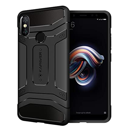 super popular 13d8e be71f KAPAVER® Xiaomi Redmi Note 5 Pro Back Cover Case Premium Tough Rugged Solid  Black Shockproof Slim Armor Back Cover Case for Xiaomi Redmi Note 5 Pro