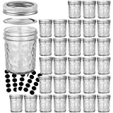 Mason Jars 6 OZ, VERONES 30 PACK 6oz Mason jars Canning Jars Jelly Jars With Lids, Ideal for Jam, Honey, Wedding Favors, Show