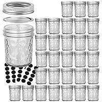 Mason Jars 6 OZ, VERONES 30 PACK 6oz Mason jars Canning Jars Jelly Jars With Lids...