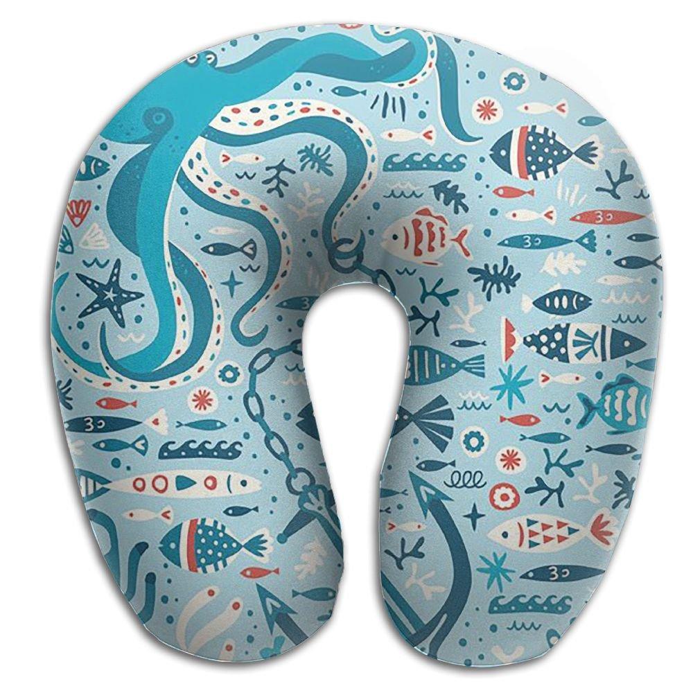 Underwater World cushion-softメモリーフォーム旅行首枕をサポートヘッド B076P7XQB5