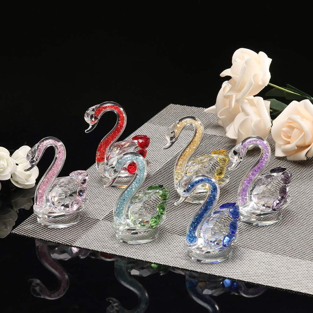 fermacarte statua decorativa da collezione cigno in vetro 60 mm x 75 mm Red decorazione per matrimonio ToDIDAF cristallo cigno ornamento decorazione per la casa