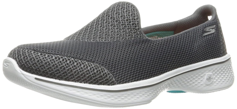 Skechers Damen Go Walk 4-Propel Slip on Sneaker  40 EU|Grau (Charcoal Charcoal)