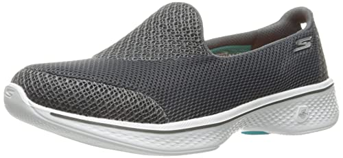 Skechers Go Walk 4-Pursuit, Entrenadores para Mujer, Gris (Charcoal), 38.5 EU