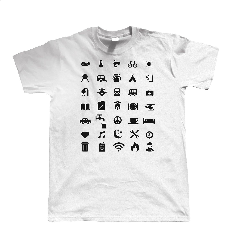 Du S au 5XL Voyage Ic/ône T Shirt Vectorbomb Mens t-shirt dr/ôle