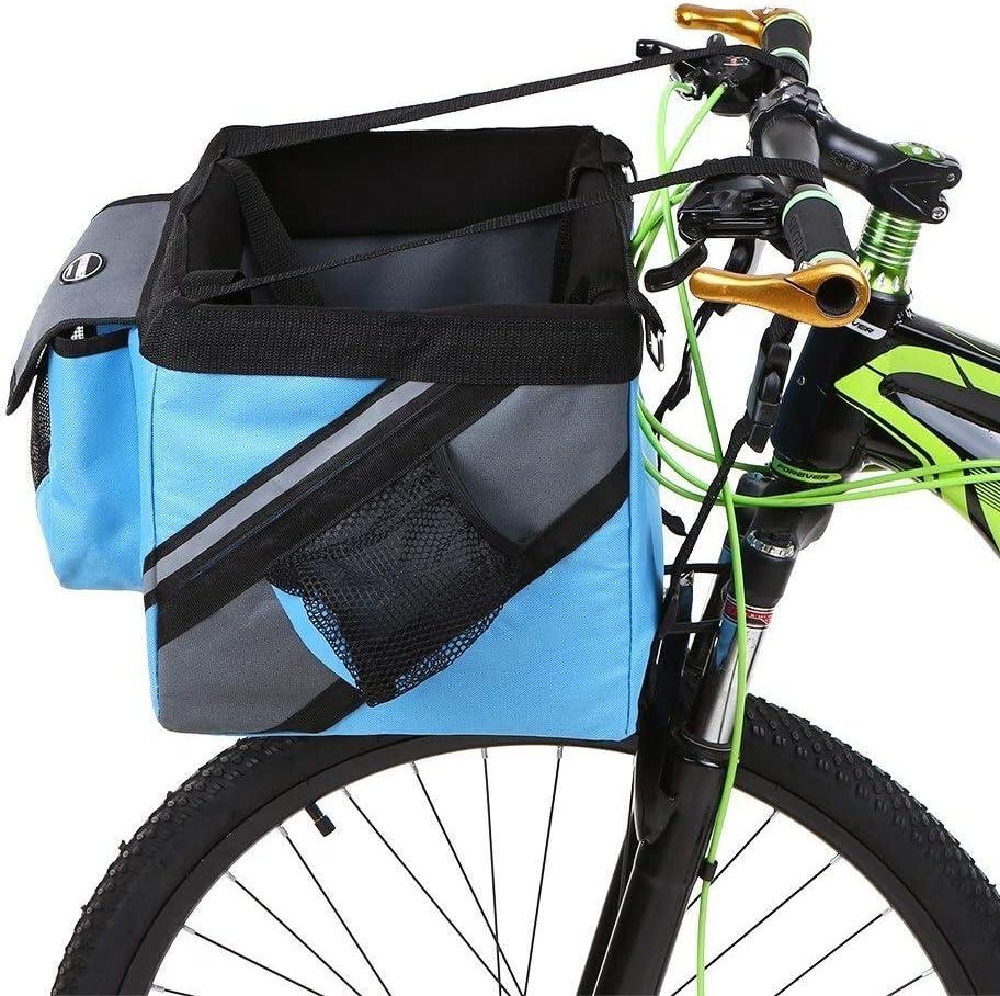 IJeilo Bicicleta Manillar Cesta Bicicleta Frente Bolsa Caja Mascota Perro Gato Portador,No Importa el Final (Color : Blue): Amazon.es: Hogar