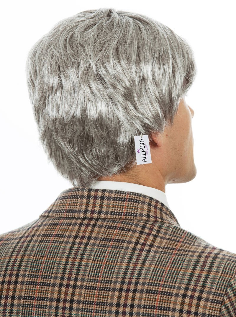 Old Man Wig – Grandpa Wig Kids and Adults – Silver Gray Wig - Old Man Costume by ALLAURA (Image #3)