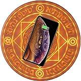 ACE [保証付] 魔法陣充電器 ワイヤレス充電器 急速 qi 置くだけ充電 LED 対応機種 iPhone 8 iPhone 8 Plus iPhoneX iPhoneXS iPhone XR iPhone XS Max 10W(ブラウン)