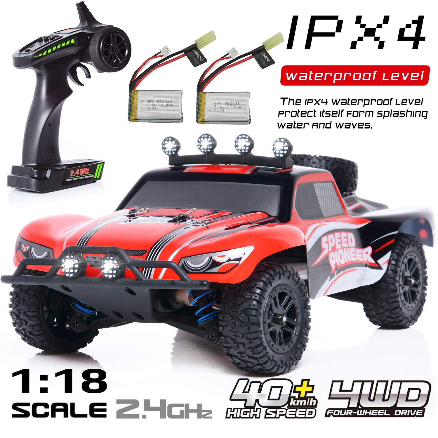 Remote Control Cars >> Exercise N Play Rc Car Remote Control Car Terrain Rc Cars Electric Remote Control Off Road Monster Truck 1 18 Scale 2 4ghz Radio 4wd Fast 30 Mph