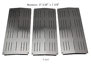 Barbacoa Mart sp7441 (3 unidades) placa de calor de acero inoxidable de repuesto para