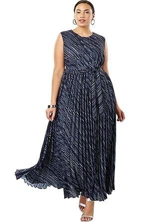Jessica London Womens Plus Size Pleated Maxi Dress At Amazon