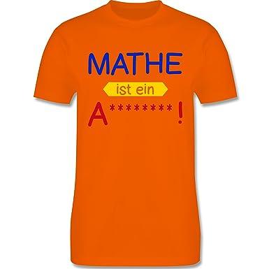Sprüche - Mathe ist ein A - XS - Orange - L190 - Herren Premium T