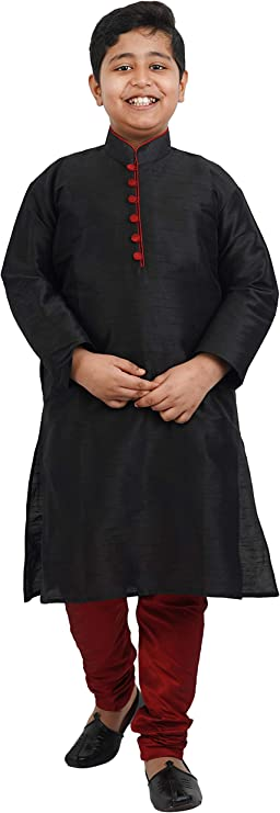 Crocon Kids Silk Dhoti Kurta Set Indian Traditional Festive Ethnic Fancy Wear Dress