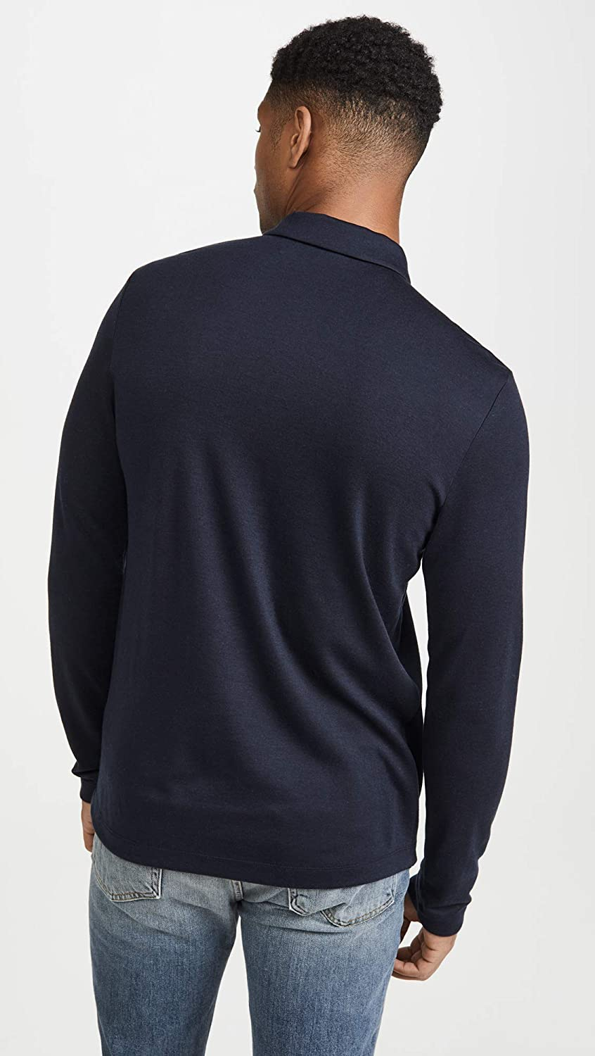Theory Mens Cashmere Blend Long Sleeve Polo Shirt
