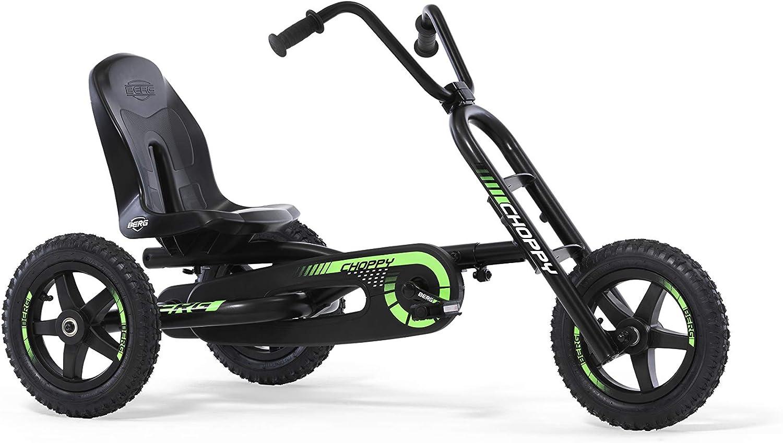 Berg Choppy Neo | Triciclo a Pedales | Niños de 3 a 8 años | La versión de una Moto Chopper Infantil | Neumáticos de Verdad Todoterreno | Asiento Regulable