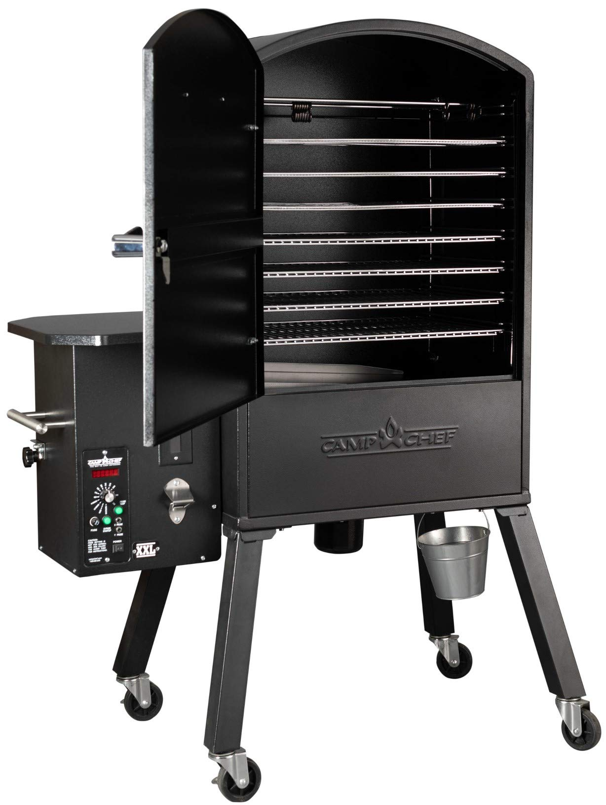Camp Chef XXL Vertical Pellet Grill and Smoker (PGVXXL) - Smart Smoke Technology - Patented Ash Cleanout - Digital Display - Pellet Purge System