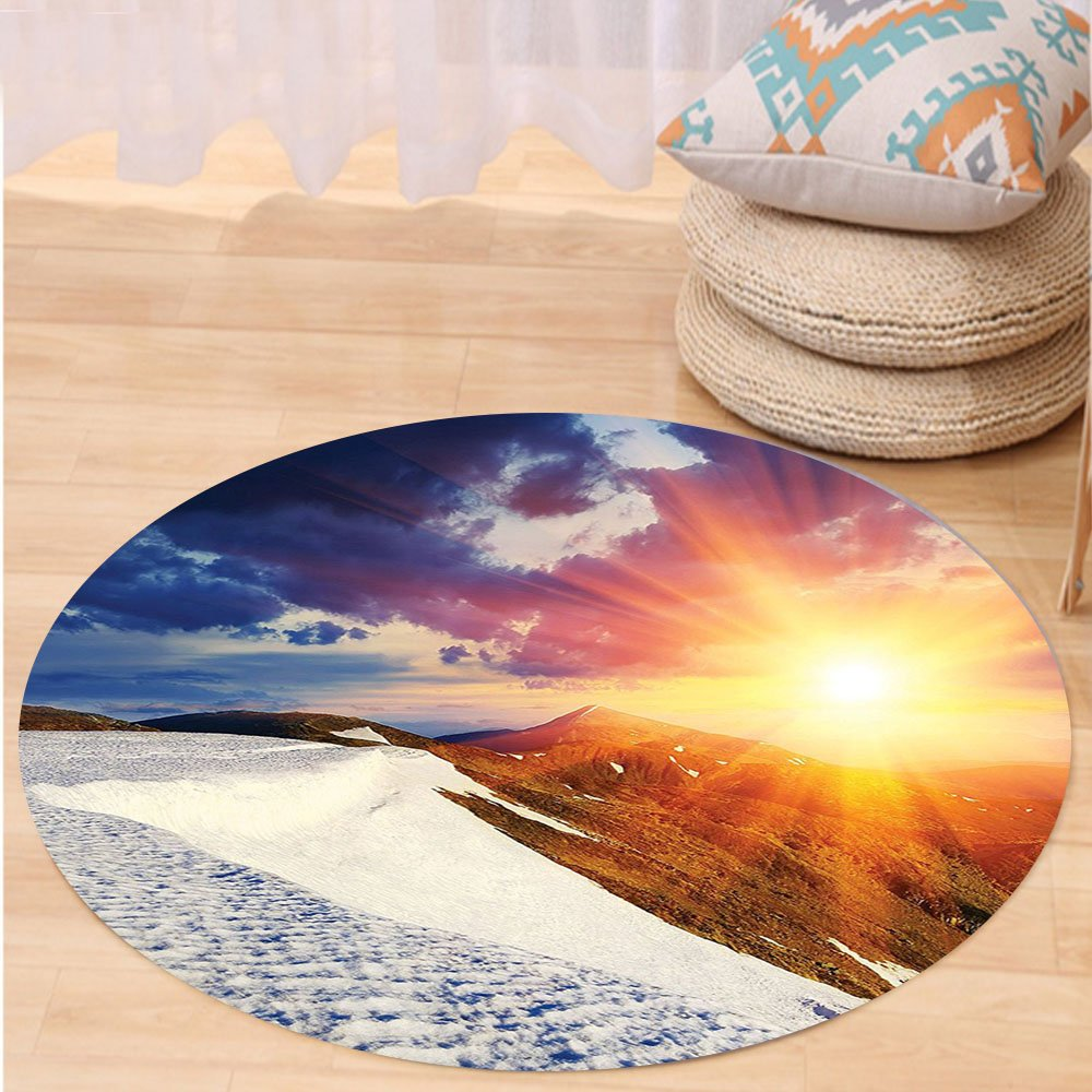 Kisscase Custom carpetDorm Room Decor Sunshine Clouds Nature Mountain and Valley Sun for Living Room Girls Decor Divider in College Dorm Accessories Landscape Home White Blue Yellow