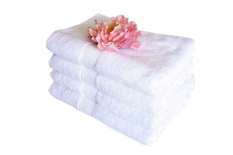 Amazon.com: Premium Bamboo Cotton Bath Towels - Natural, Ultra ...