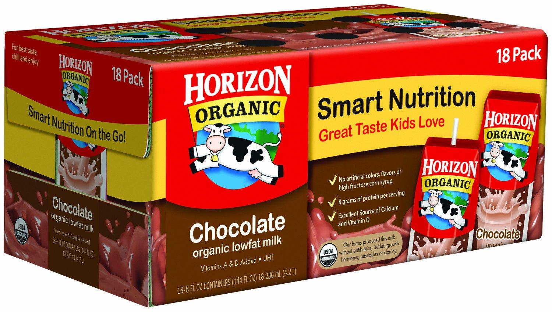 Horizon Organic Lowfat Milk - Chocolate - 8 oz - 18 pk