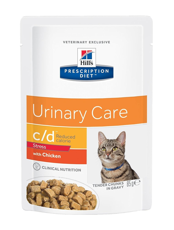 Hill`s Hill`s Alimento Dietético para Gato C/D Pouch Urinary Stress - 2 Paquetes de 85 gr - Totale: 170 gr: Amazon.es: Productos para mascotas