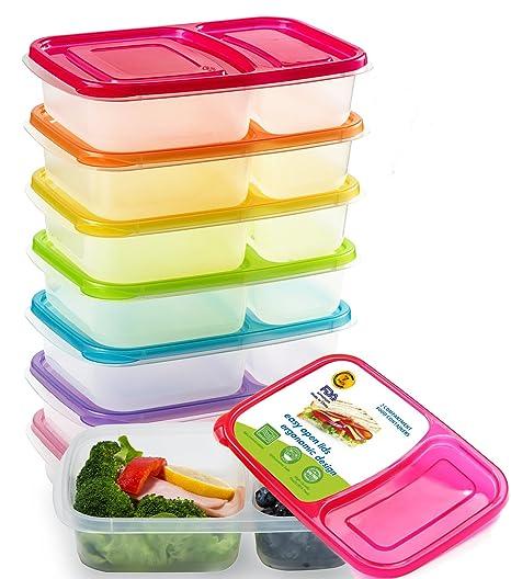 Amazon.com: Contenedores para preparar comidas con 2 ...