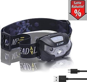 STIRNLAMPE USB WIEDERAUFLADBAR KOPFLAMPE Camping-Lampen & -Laternen Camping-Stirnlampen