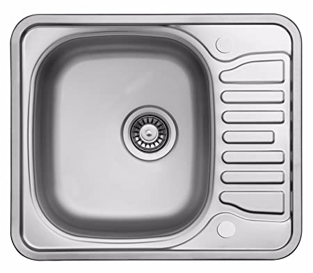Polished Inset Stainless Steel Kitchen Sink & Drainer (LA095 ...