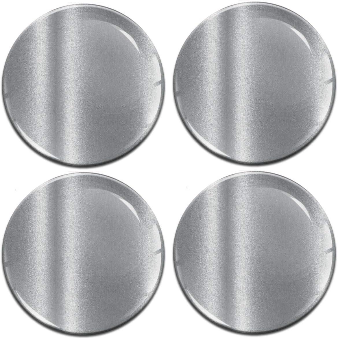 Biomar Labs 4 X 65mm Aufkleber 3d Silikon Silber Für Radkappen Nabenkappen Radnabendeckel Rad Aufkleber Nabendeckel A 9765 Auto