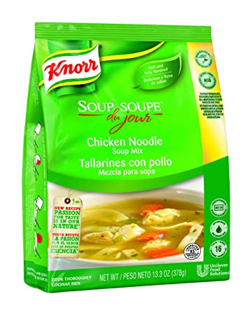 Knorr Soup du Jour Mix Chicken Noodle 13.3 oz, Pack of 4