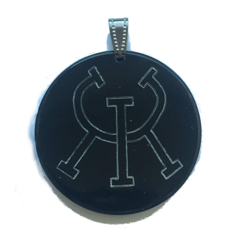 Rune Amulette santé magique–2faces (Pendentif en corne) | runes Amulette Germanenschmuck RS-Hn-60