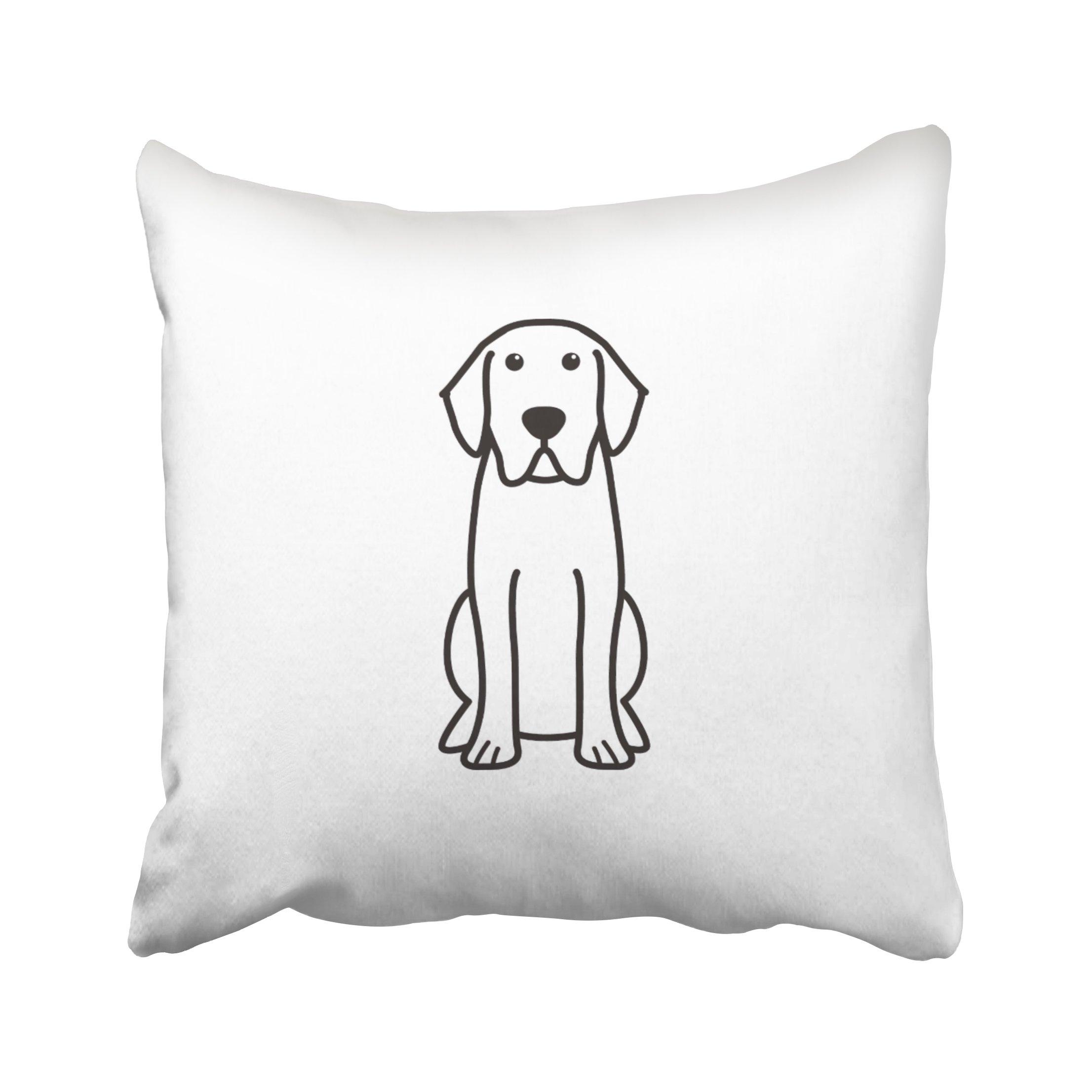 ONELZ Labrador Retriever Dog Square Decorative Throw Pillow Case, Fashion Style Zippered Cushion Pillow Cover (20X20 inch)