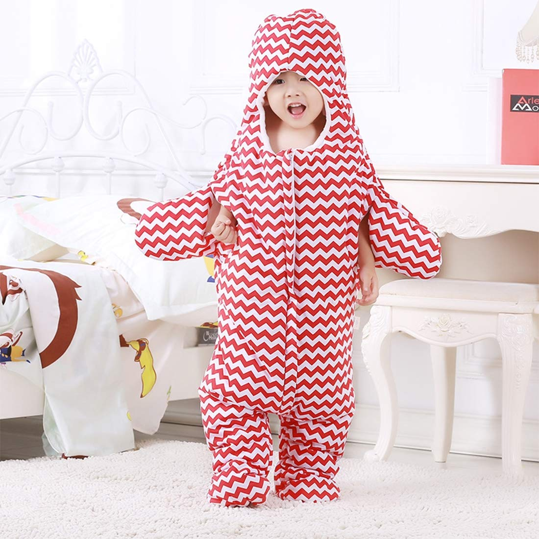 Baby Furniture Baby Nest Bed Cute Starfish Style Baby Sleeping Clothing Bag for 1-1.5 Years Baby, Size: 105yard(Black) (Color : Red) by LUOFUSHENG