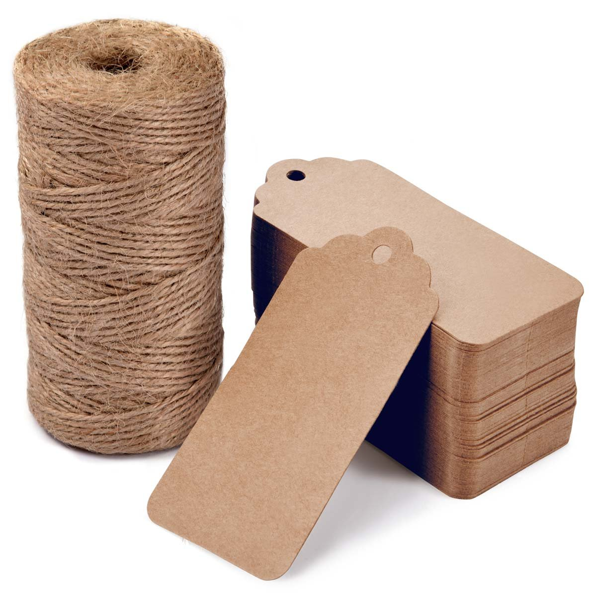 picture relating to Printable Kraft Tags identify 100 Computers Reward Tags with 328 Ft Jute Cord,LOOMY Printable Blank Kraft Paper Tags for Arts Craft Tasks Bash Wedding ceremony Choose Occasion Brown