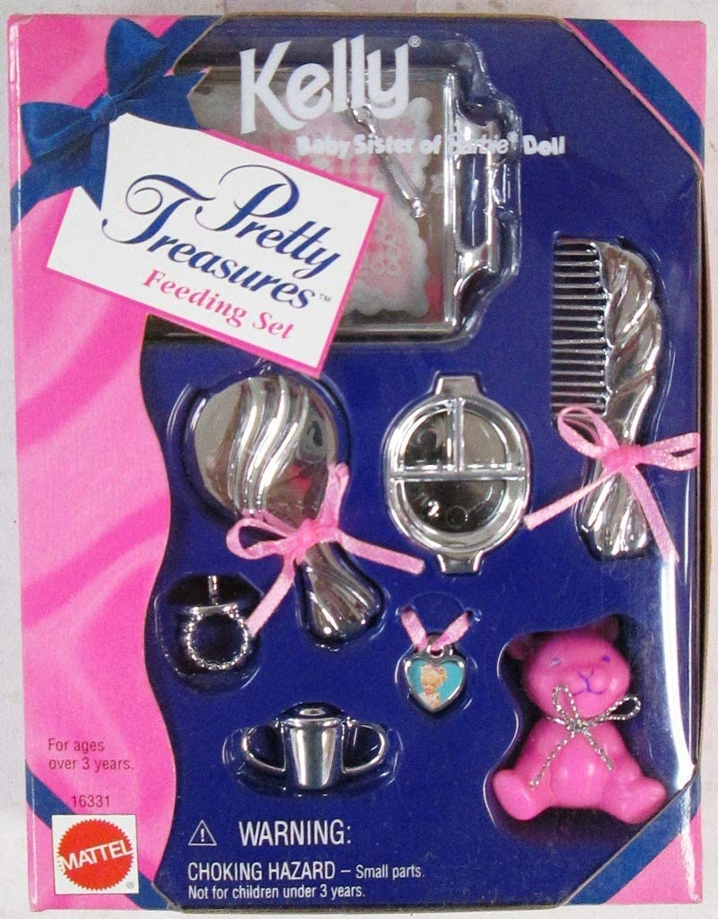 Barbie KELLY Pretty Treasures Feeding Set 1996