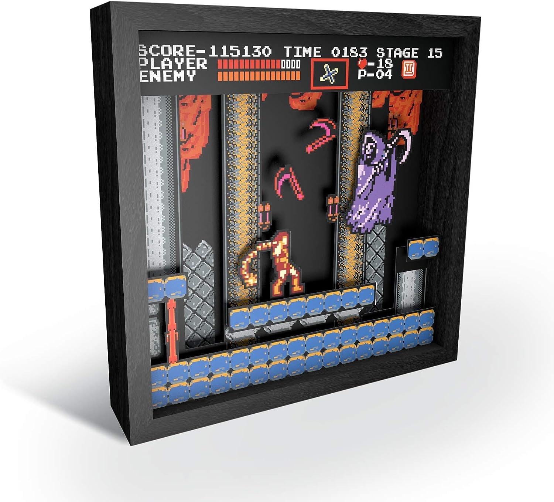 PF-CP-103 Small Boss Fight 6x6 Shadow Box Art Pixel Frames Capcom Mega Man
