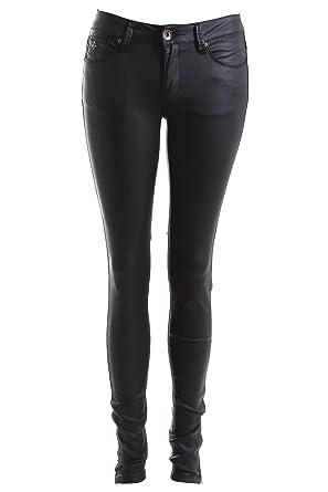 cba9e4c3271b1 Pantalon slim noir effet ciré: Amazon.fr: Vêtements et accessoires
