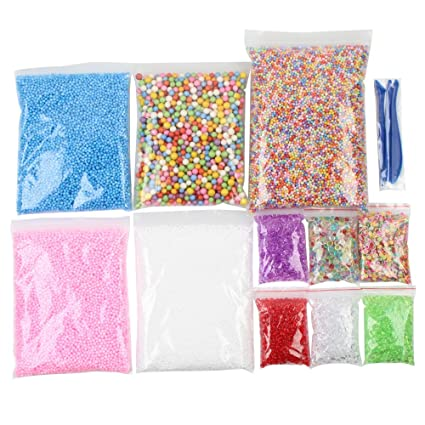 Prevently Toy Slime Esponjoso, Cuentas Coloridas para pecera casera, Bricolaje, Manualidades, Fiesta