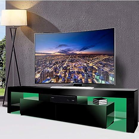 Mobile Tv Ante Scorrevoli.Moderno Mobile Tv 200 Cm Mobiletto Nero Opaco E Bianco Lucido Con