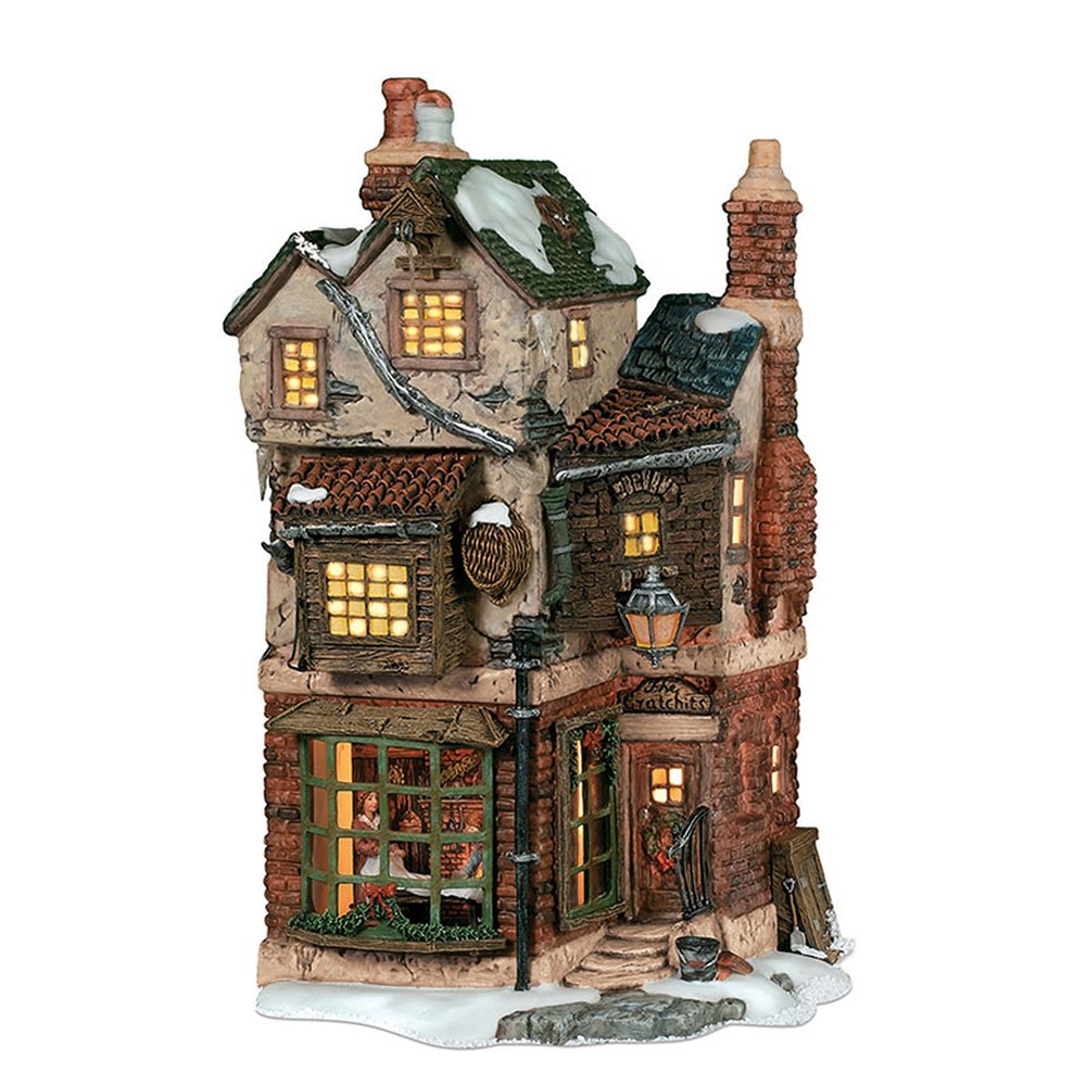 Department 56 Dickens' Village Cratchits Corner Lit Building
