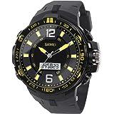 Hiwatch Reloj Deportivo para los Hombres al Aire Libre Impermeable Reloj Digital de Cuarzo Militar Dato Multifuncional LED Alarma Compana Cronómetro