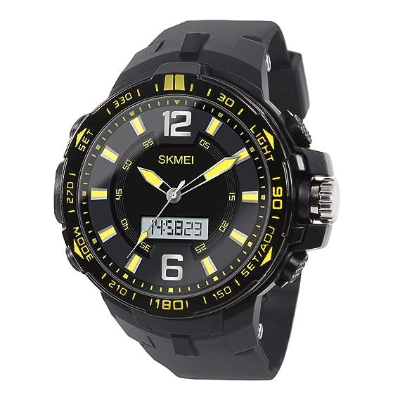 Hiwatch Reloj Deportivo para los Hombres al Aire Libre Impermeable Reloj Digital de Cuarzo Militar Dato