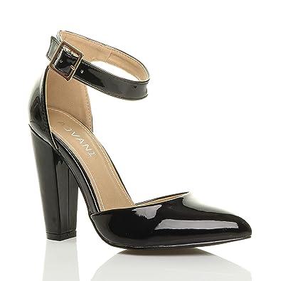 ffbff3612e7e0 Ajvani Women's High Heel Pointed Court Shoes Pumps Size