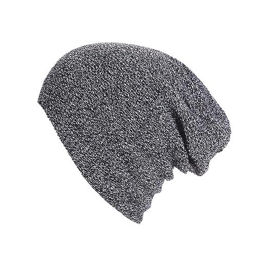 Unisex Knit Baggy Beanie Invierno Cálido Ski Cap Sombrero Para Las Mujeres Hombres