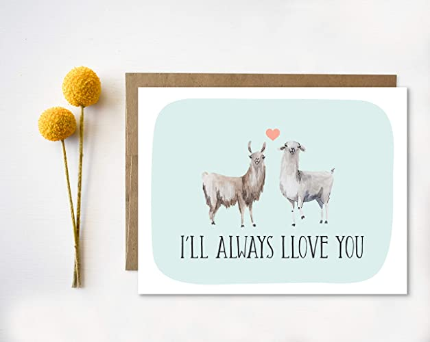 Amazon Com Llama Valentine S Day Card Greeting Card Handmade