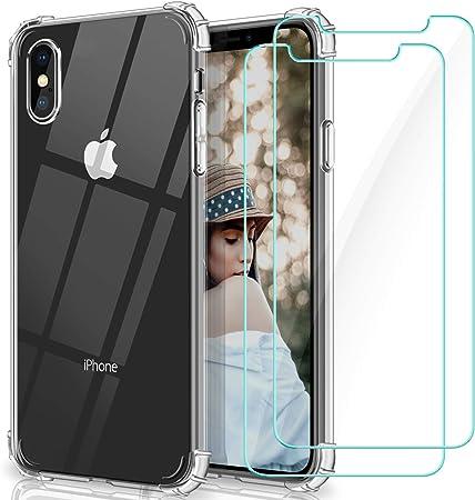 WINmall Cover per iPhone X, Cover per iPhone XS, 2 Pezzi Pellicola ...