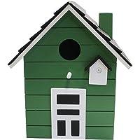Nido Casa para pájaros 20cm multicolor (Verde)