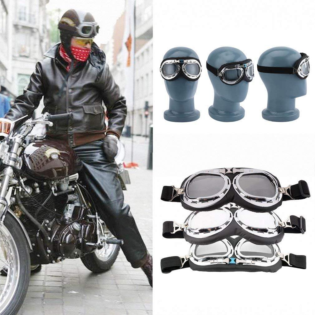 HermosaUKnight Hot Anti-Uv-Sicherheit Motorrad Roller Fliegerbrille Helm Brille Motocross Silber Durchsichtig